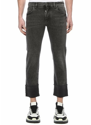 Dolce&Gabbana Dolce&Gabbana  Normal Bel Cropped Jean Pantolon 101620101 Gri